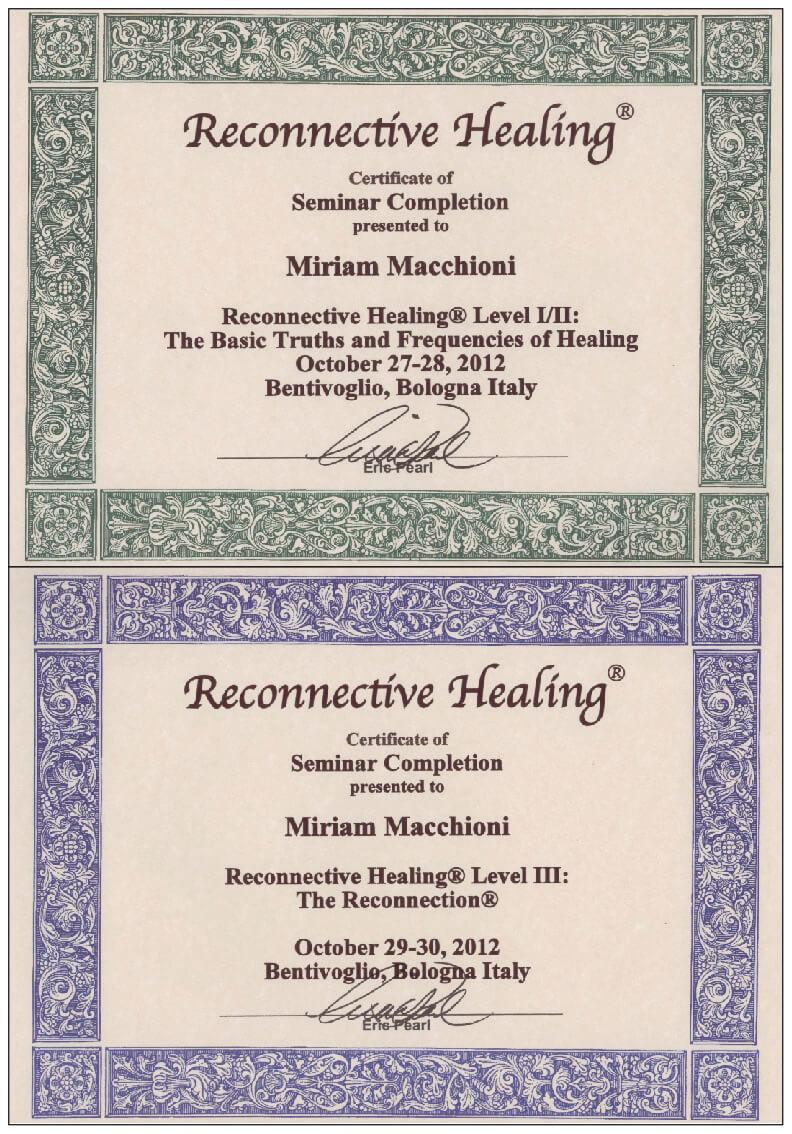 Diplomi Reconnective Healing I-II-III