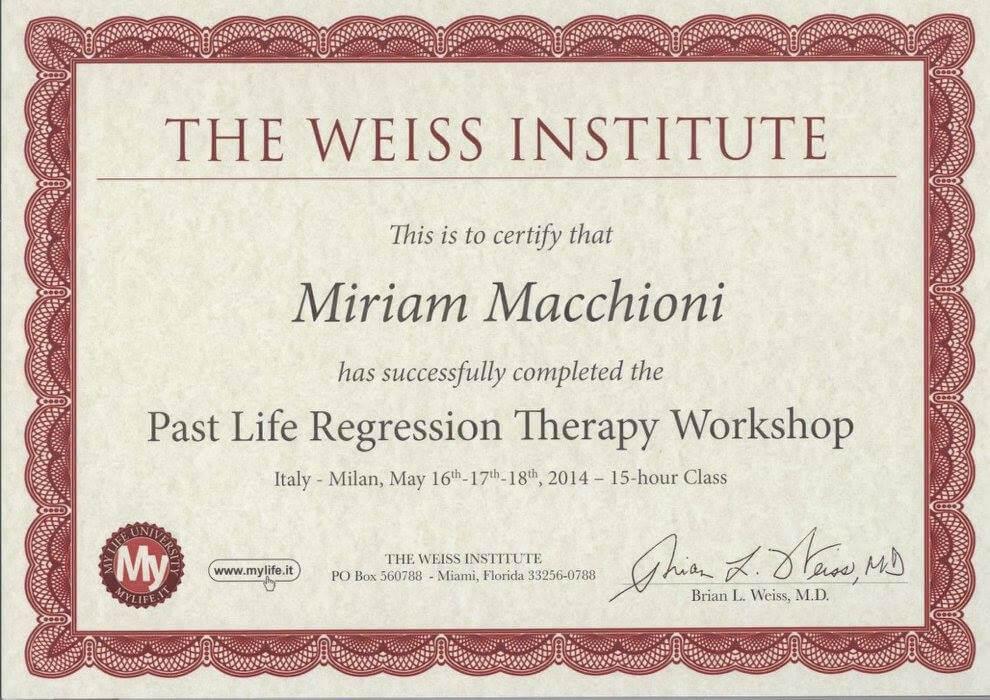 Diploma Seminario Brian Weiss