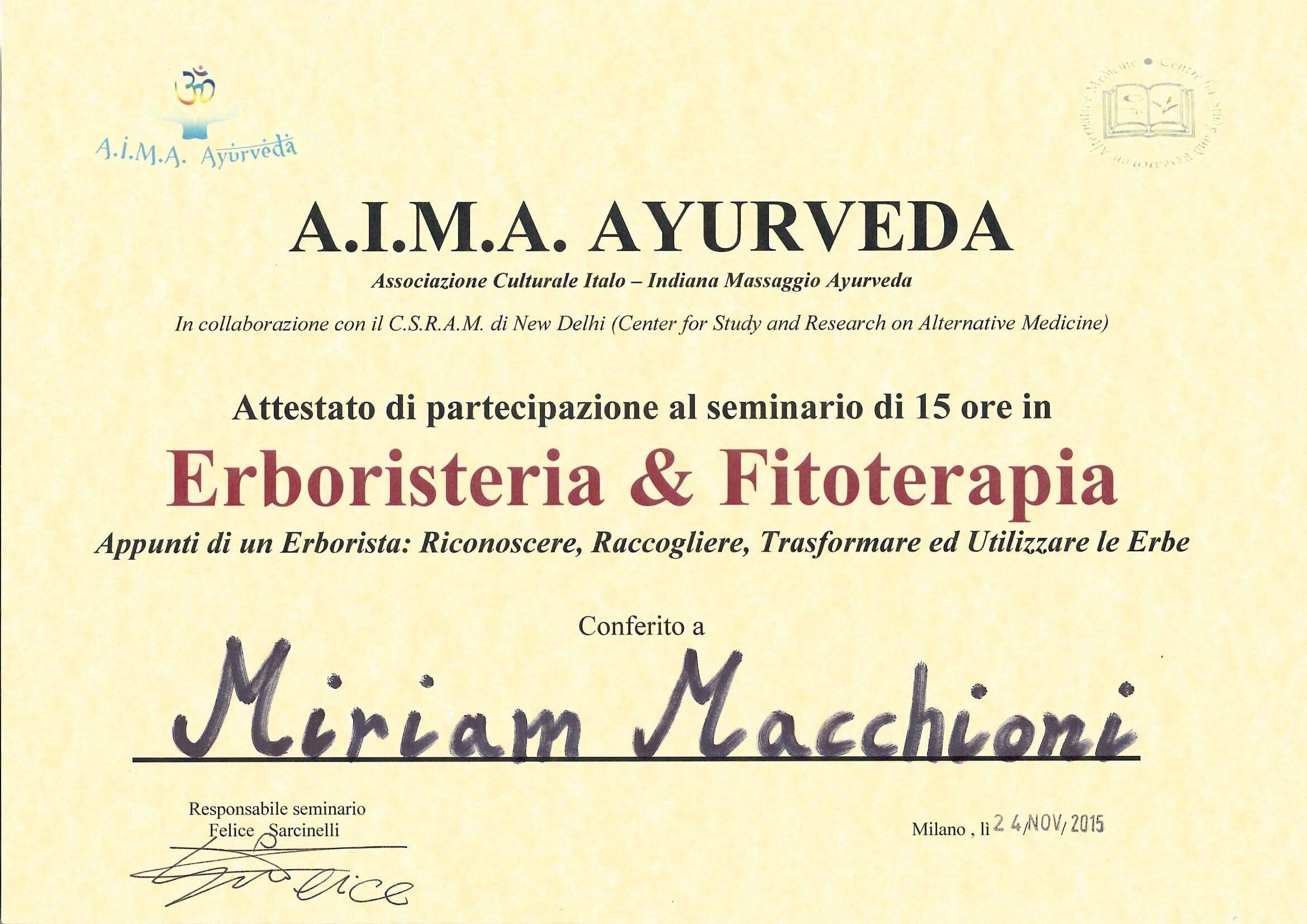 Diploma Fitoterapia