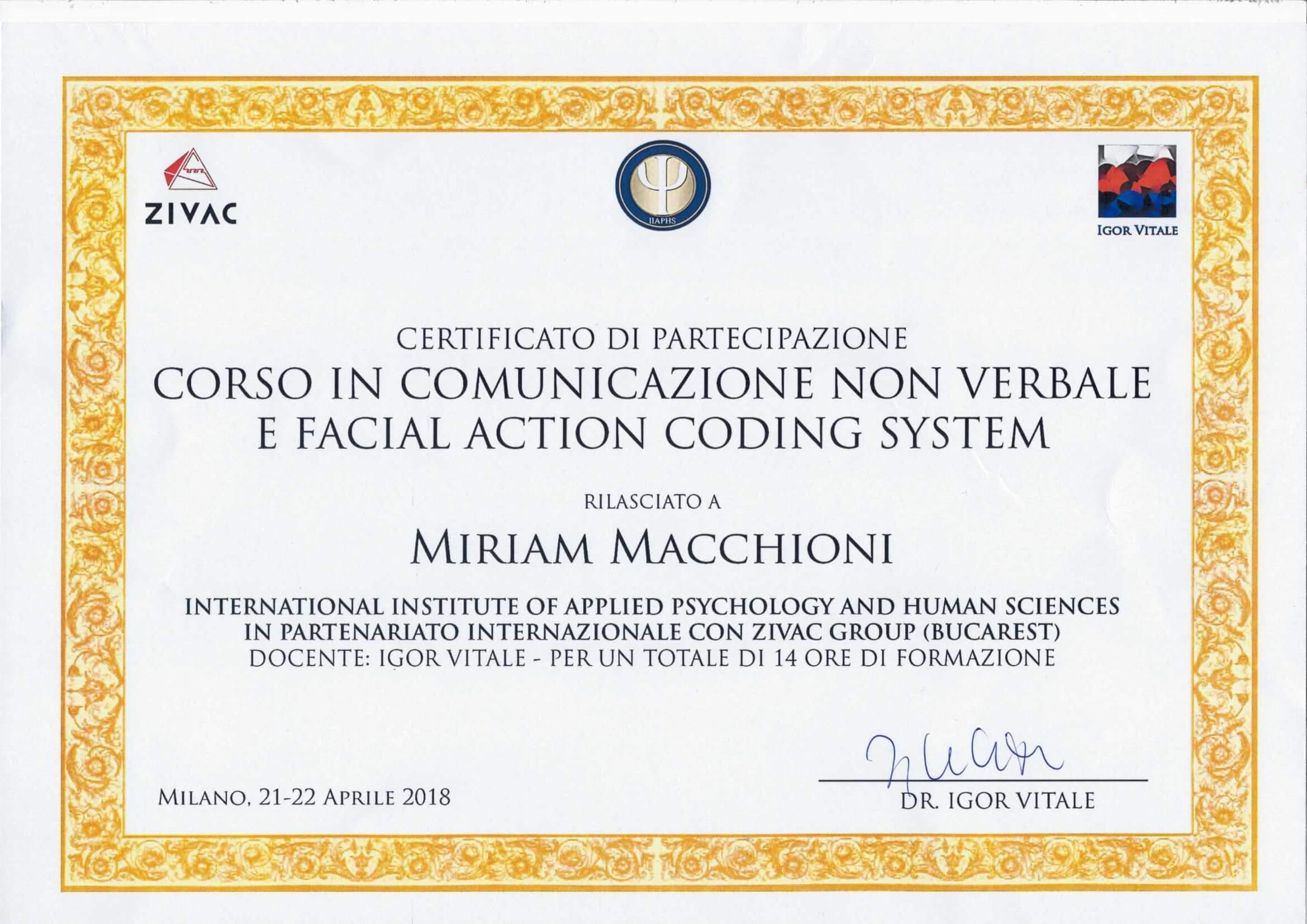 Comunicazione non verbale e Facial Action Coding System