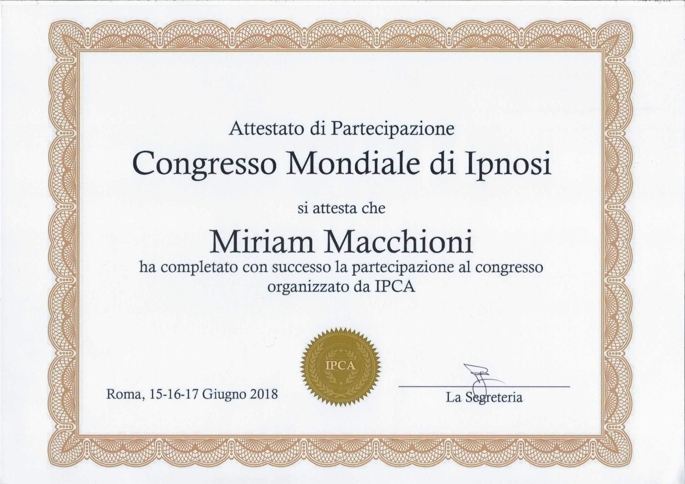 Congresso mondiale di Ipnosi